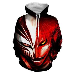 Pull à capuche 3D All Over Bleach Ichigo Hollow Power