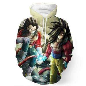 Pull à capuche 3D All Over Dragon Ball GT Goku X Vegeta