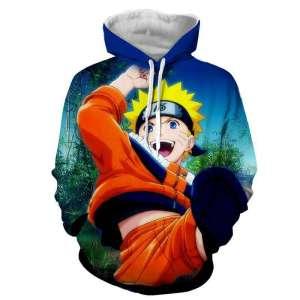 Pull à capuche 3D All over Naruto Kid