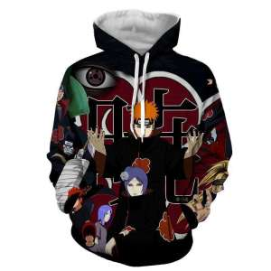 Pull à capuche 3D All over Naruto Pain