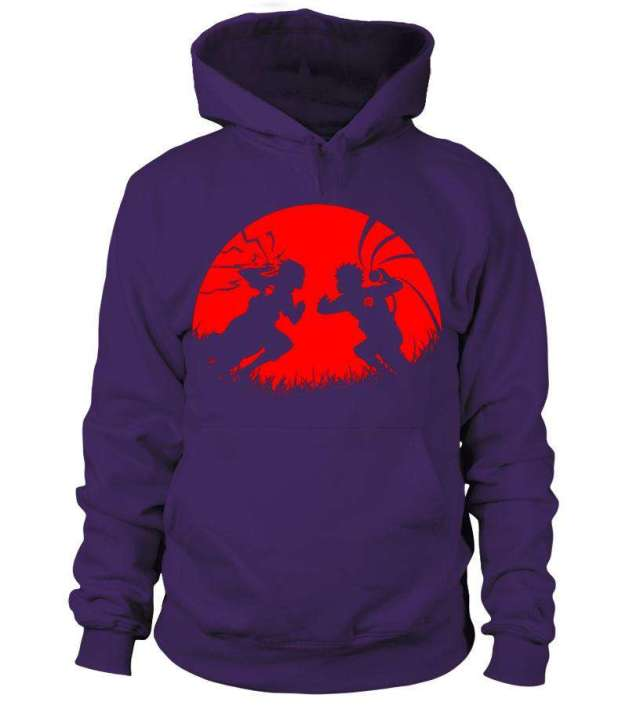 Pull à capuche Naruto Vs Sasuke Moon