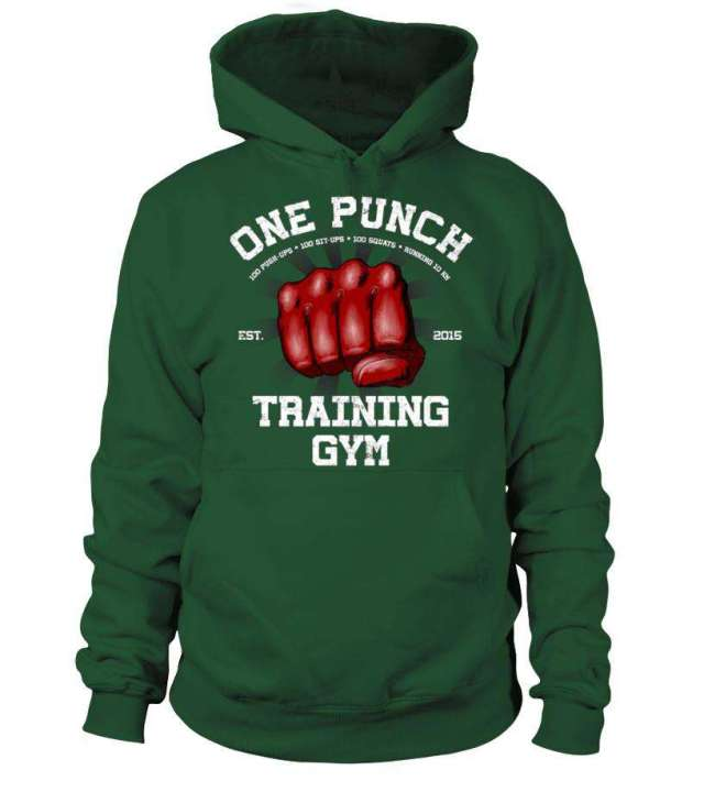 Pull à capuche One Punch Man Training Gym