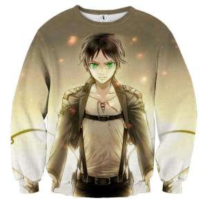 Pull classique 3D All Over Attack On Titans Eren Jaeger