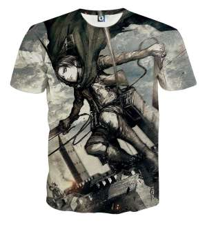 T Shirt 3D All Over Attack On Titan Levi Rivaille Attack