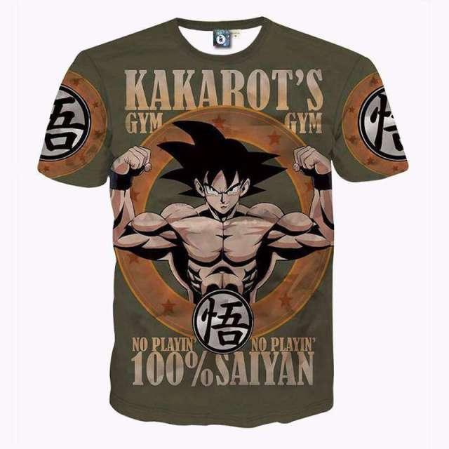 T Shirt 3D All Over Dragon Ball Kakarot's Gym