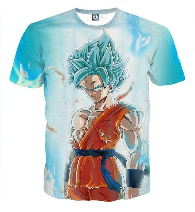T Shirt 3D All Over Dragon Ball Super Goku