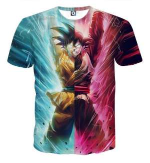 T Shirt 3D All Over Dragon Ball Super Goku Vs Black