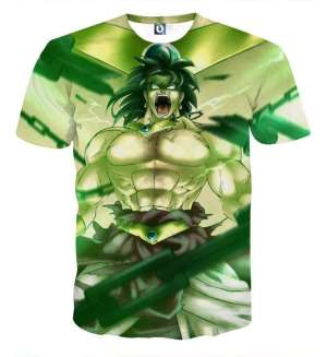 T Shirt 3D All Over Dragon Ball Z Broly
