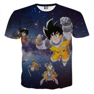T Shirt 3D All Over Dragon Ball Z Space