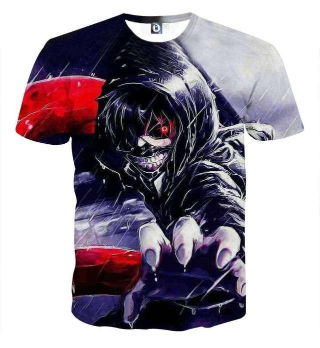 T Shirt 3D All Over Tokyo Ghoul Kaneki Attack