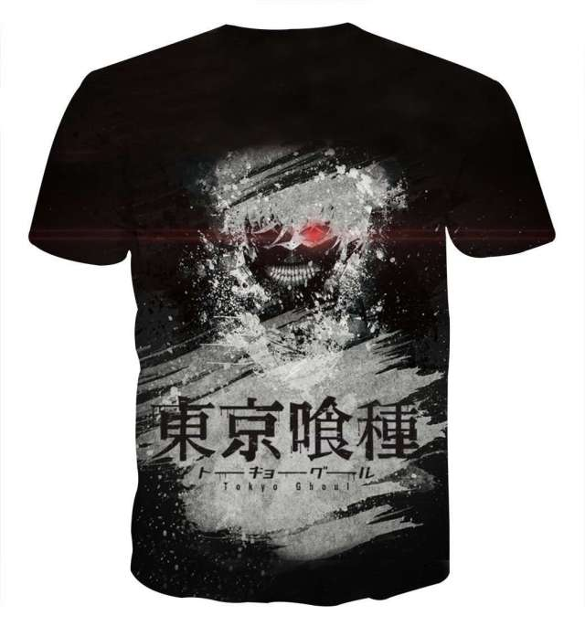 T Shirt 3D All Over Tokyo Ghoul Kaneki Painting Style