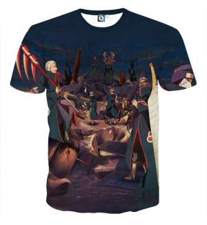 T Shirt All Over 3D Naruto Akatsuki