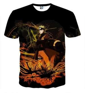 T Shirt All Over 3D Naruto Mode Kyubi