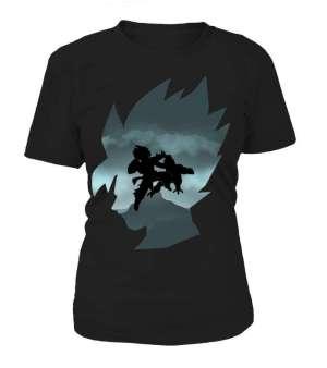 T Shirt Femme Dragon Ball Z Goku Vs Freeza