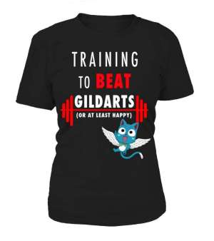 T Shirt Femme Fairy Tail Training To Beat Gildarts