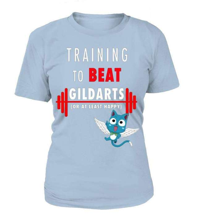 T Shirt Femme Fairy Tail Training To Beat Gildarts
