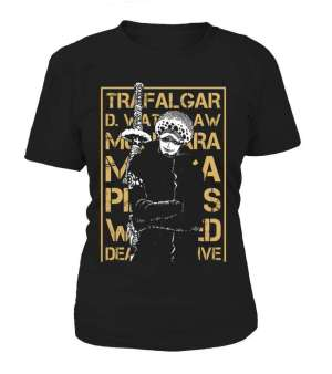 T Shirt Femme One Piece Trafalgar Law Wanted