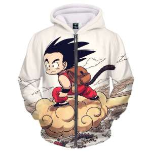 Veste à capuche 3D All Over Dragon Ball Z Goku Kid Kinto
