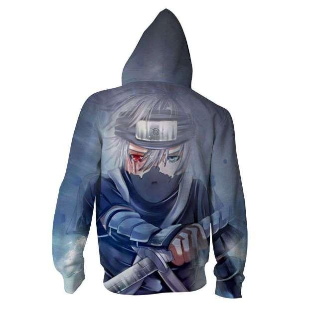 Veste à capuche 3D All Over Naruto Kakashi Gaiden