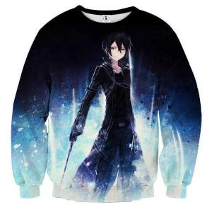 Pull classique 3D All Over Sword Art Online Kirito Power