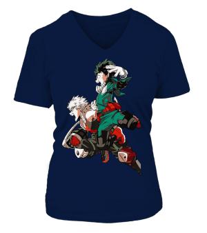 T Shirt Femme My Hero Academia Deku X Bakugo