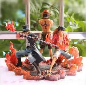 Lot de 3 Figurine One Piece Luffy Brothers