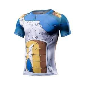 T Shirt 3D All Over Dragon Ball Z Vegeta Damaged