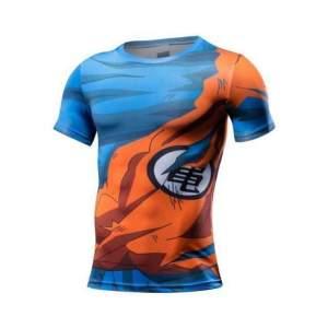 T Shirt 3D All Over Dragon Ball Z Goku Damaged