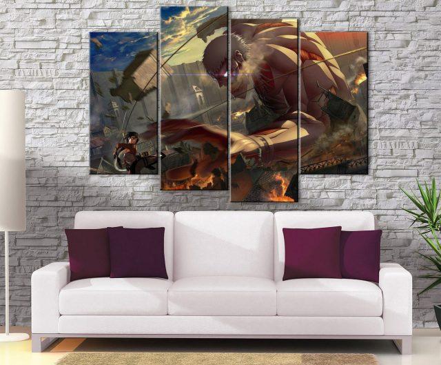 Décoration murale L'attaque des Titans Armored Titan