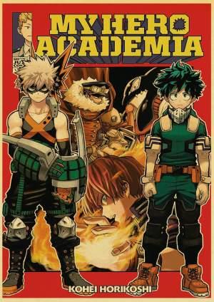 Poster My Hero Academia Bakugo X Izuku