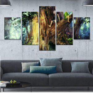 Décoration murale en 5 pièces Hunter X Hunter Gon X Kirua Painting