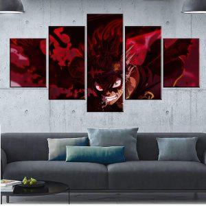 Décoration murale en 5 pièces Black Clover Evil Asta