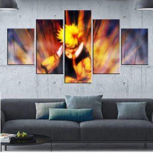 Décoration murale en 5 pièces Naruto Kid Fight