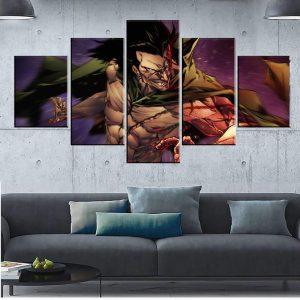 Décoration murale en 5 pièces One Piece Dragon
