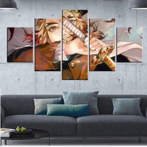Décoration murale en 5 pièces Demon Slayer Kimetsu No Yaiba Giyu