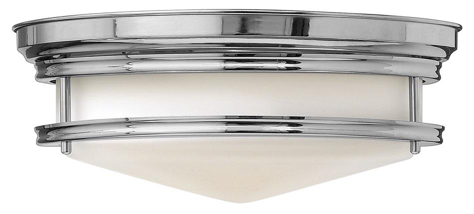 hinkley hadley art deco 2 lamp flush bathroom ceiling light chrome