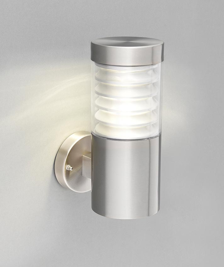 equinox led modern outdoor wall light 316 stainless steel ip44 91783