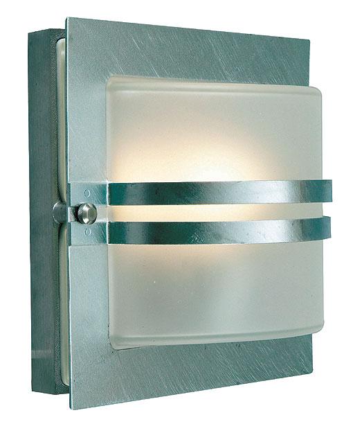bern art deco frosted glass outdoor wall lantern galvanised bern e27 gal f