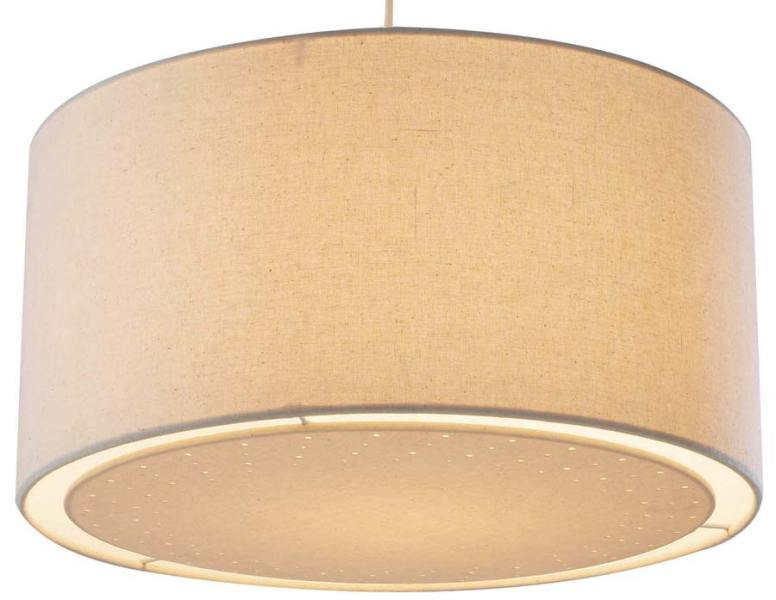 Dar Edward Cream Fabric Drum Ceiling Lamp Shade EDW6533 Dar Edward Cream Fabric Drum Ceiling Lamp Shade