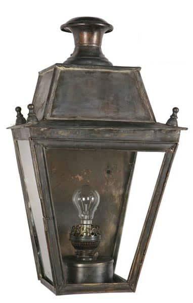 Balmoral Large Brass Victorian Flush Outdoor Wall Lantern