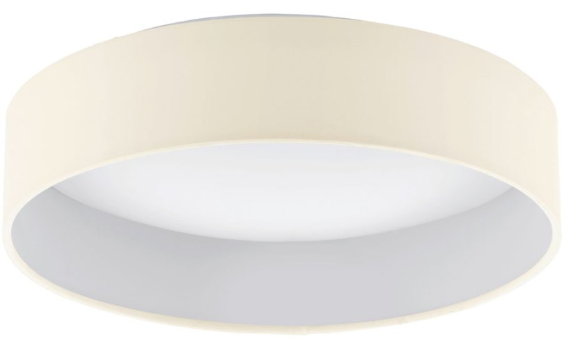 Palomaro 11w LED Flush Mount Cream Fabric Circle Ceiling Light 93392 Palomaro 11w LED Flush Mount Cream Fabric Circle Ceiling Light