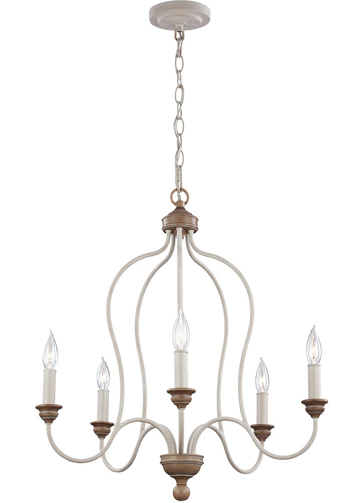 feiss hartsville 5 light chandelier chalk washed farmhouse style