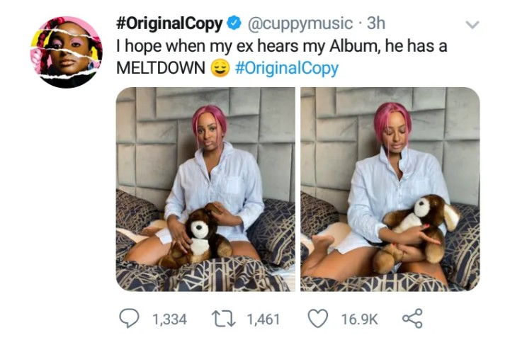 Screenshot_20200711-153428 DJ Cuppy says her Ex-Boyfriend will have a meltdown when he hears her album