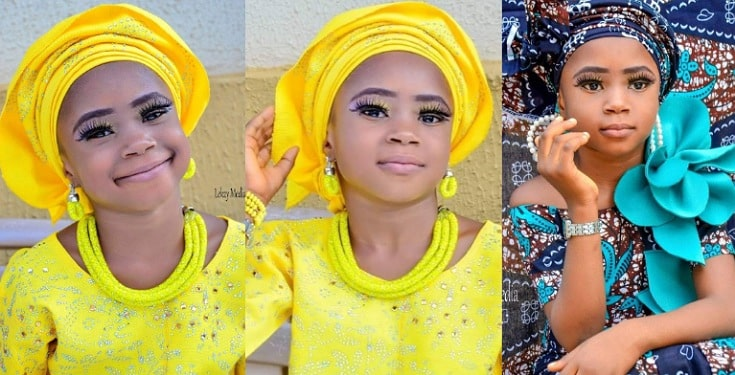 screenshot-1 Mother shares photos of her young daughter on makeup and eyelashes as she celebrates her birthday