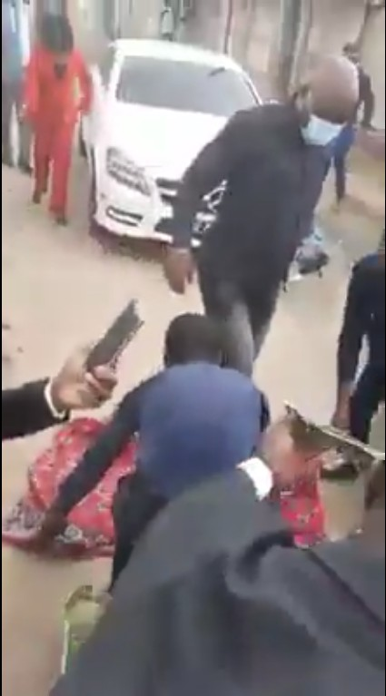 UCScreenshot20200919213643 Prophet steps out of his Benz as church members lay wrappers on the ground for him to walk on (Video)