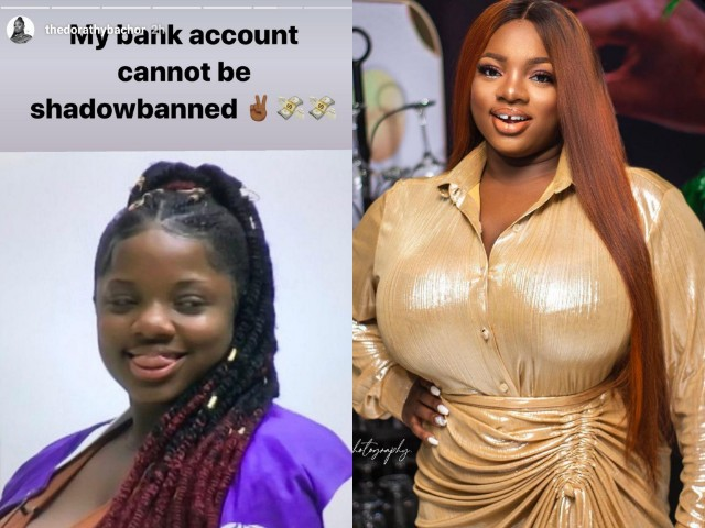 """PicsArt_10-08-09.53.57 """"My bank account cannot be shadowbanned"""" – Dorathy shades those reporting her IG account"""
