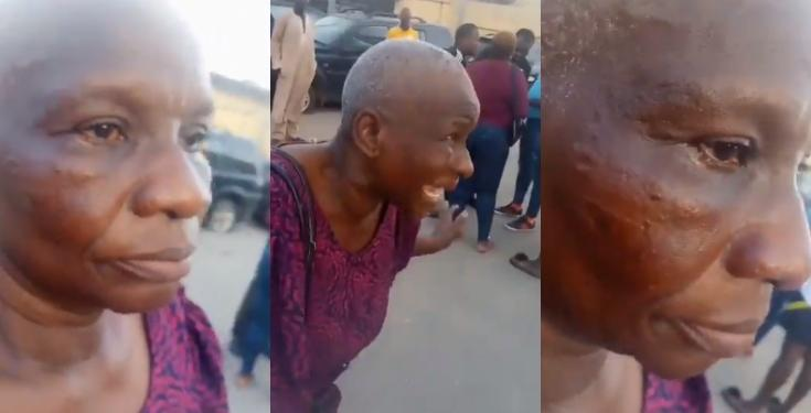 mum EndSARS: Police officer allegedly slaps Oxlade's manager's mother (Video)