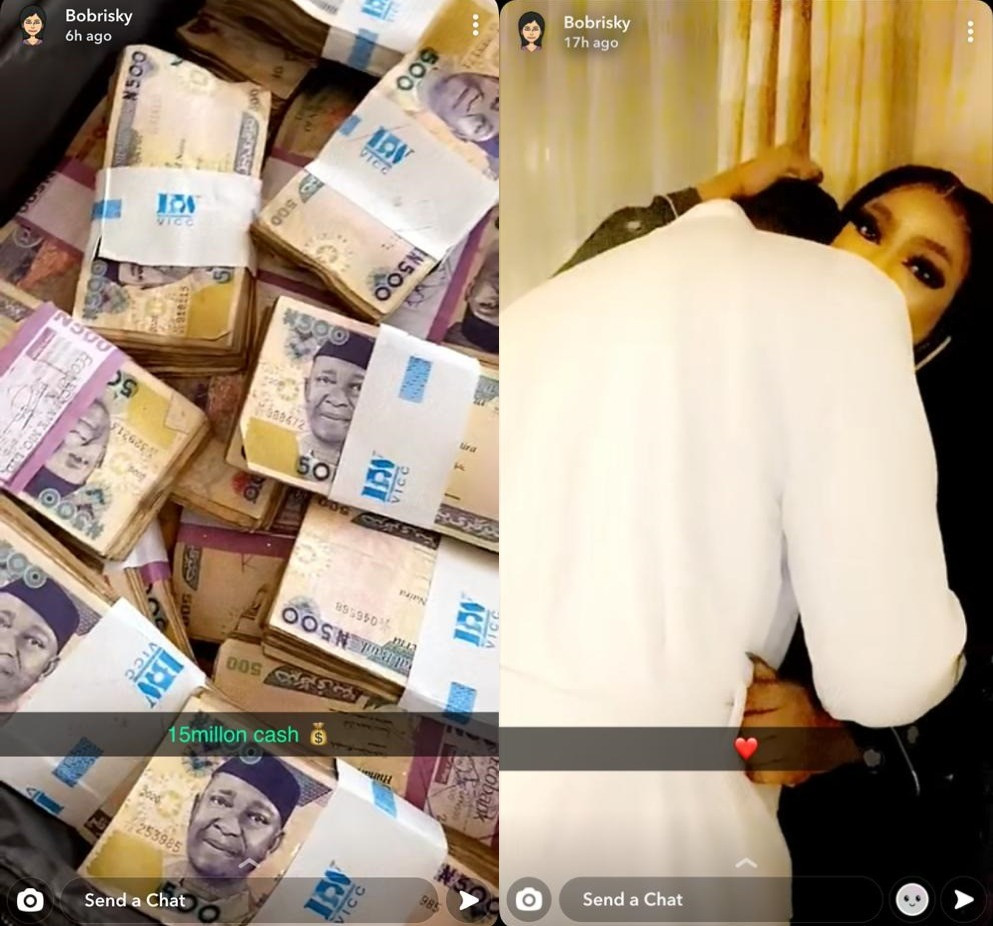 5fc7fd7eb6c5d Bobrisky flaunts the 'N15 million' his bae gave to him after they spent a night together (video)