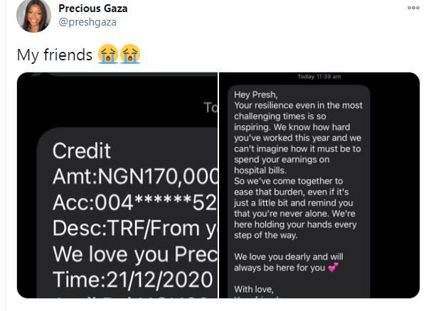 5fe18eff62276 Nigerian lady reveals what her friends did for her after spending her earnings on hospital bills