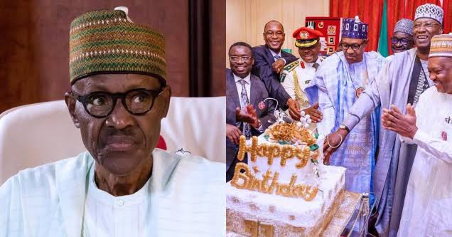 """images-49 """"They'll say the cake is N400M"""" – Nigerians tease Buhari over his birthday cake"""